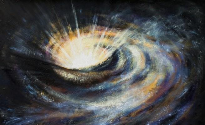 черна дупка галактика космос