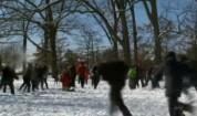 Масов бой със снежни топки във Вашингтон