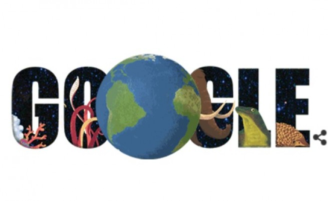 """Днес - 22 април, дудълът на """"Гугъл"""" също е посветен на Земята"""