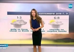Прогноза за времето (31.08.2016 - сутрешна)