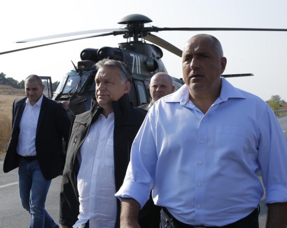 - Българският премиер показа на унгарския си колега как се охранява българо-турската граница