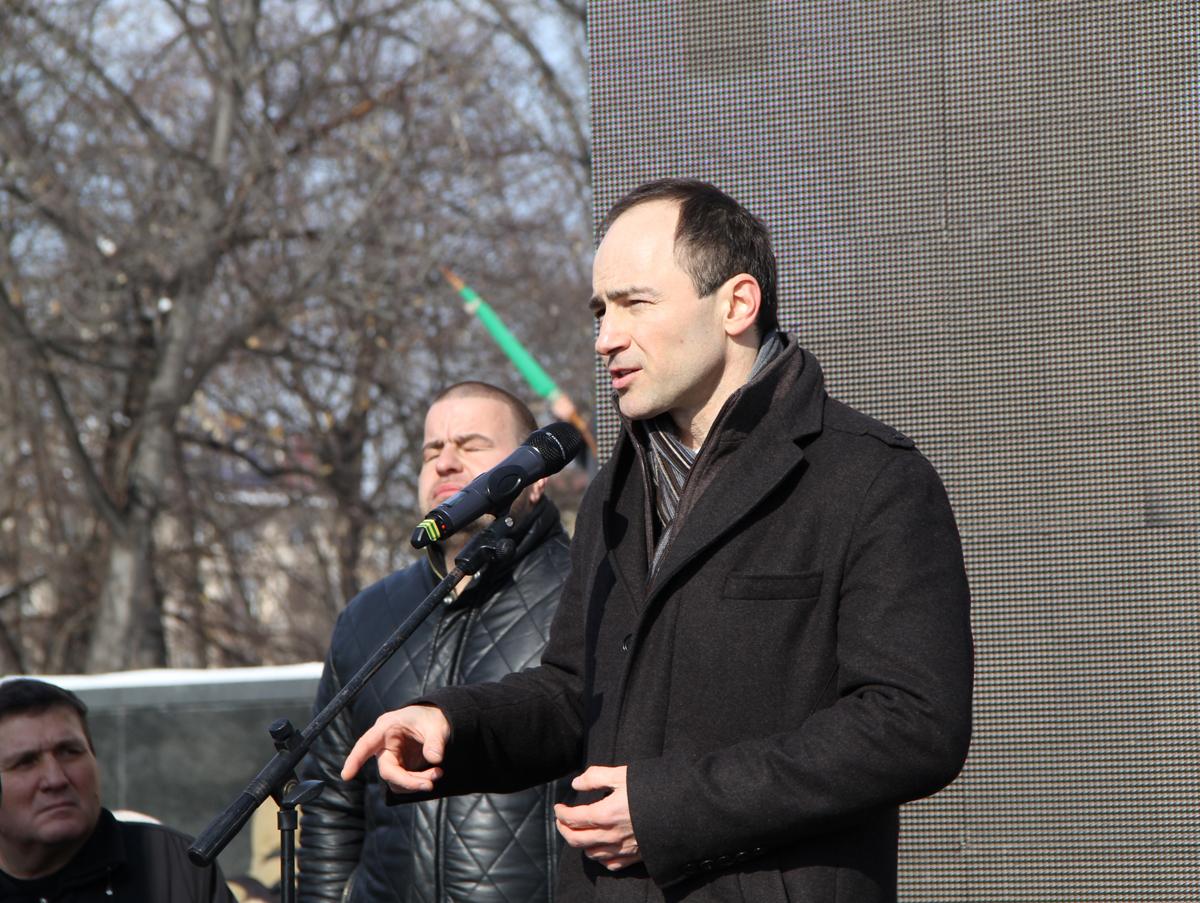 След видеообръщение на президента Росен Плевнелиев, реч произнесе евродепутатът Андрей Ковачев (ГЕРБ/ЕНП), зам.-кметът на София Тодор Чобанов и представители на съюза на репресираните