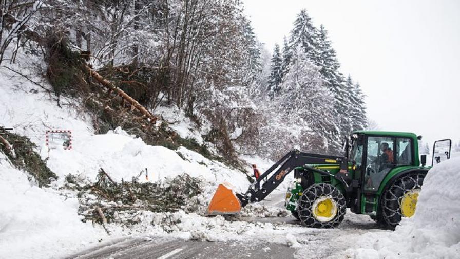 Тежка зима в Австрия, Унгария и Сърбия