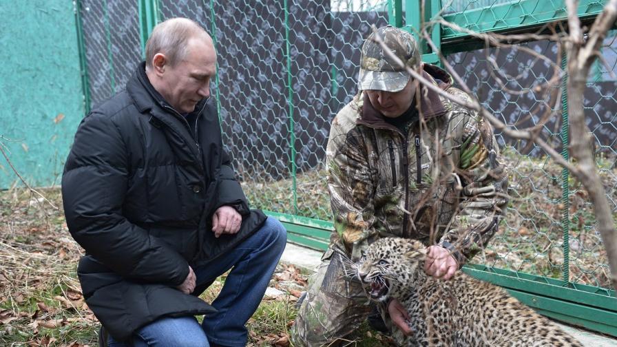 Путин влезе в клетката на леопард