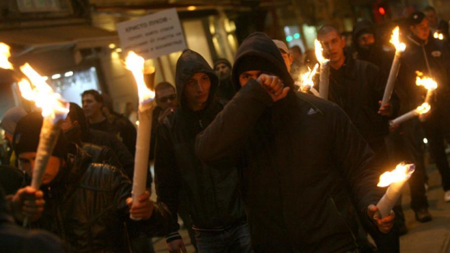 Кадър от Луков марш 2011 г.