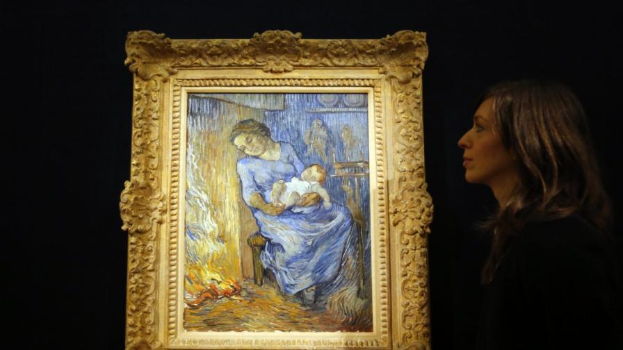 Жена с дете, очакваща мъжа си да се завърне от мореплаване - L'Homme est en mer на Ван Гог