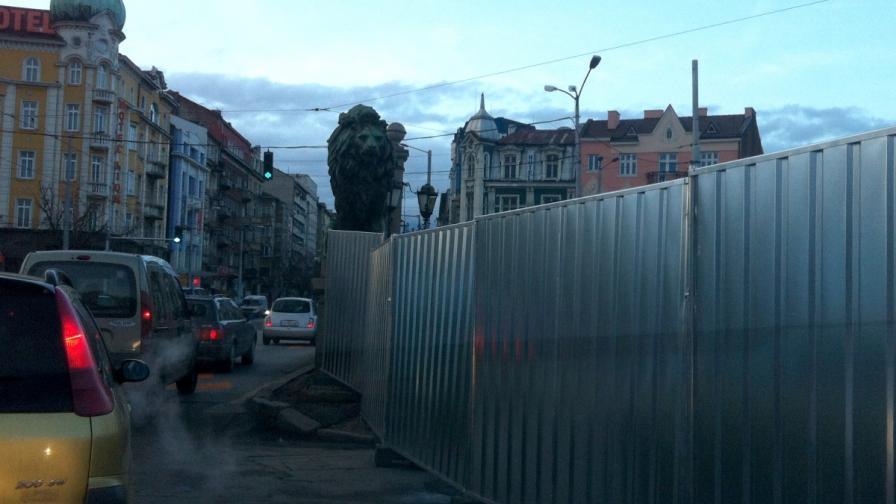 Голямо задръстване заради ремонта на Лъвов мост