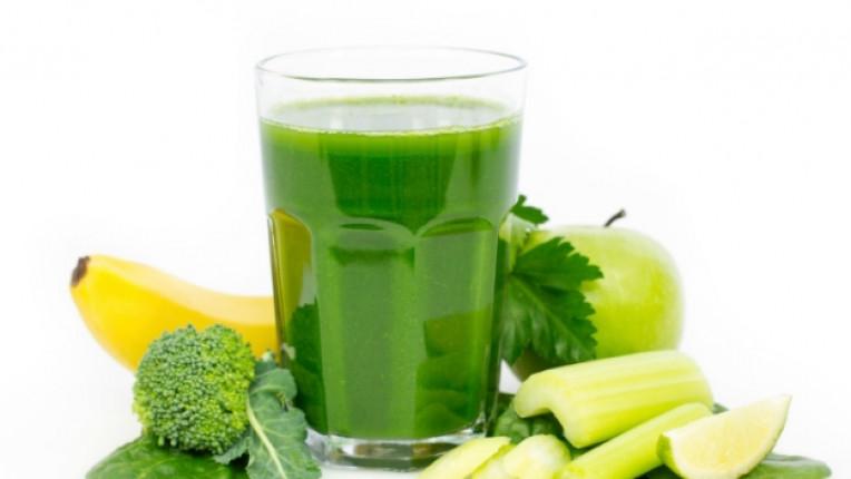 витамин фреш сок зелен банан ябълка лимон зелена салата