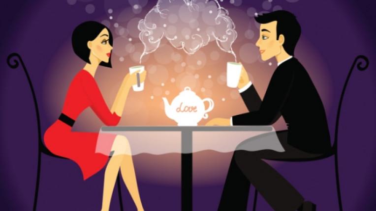 среща кафе двойка мъж жена любов
