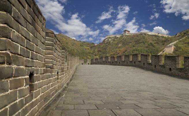 Великата китайска стена в популярния участък Митянюй