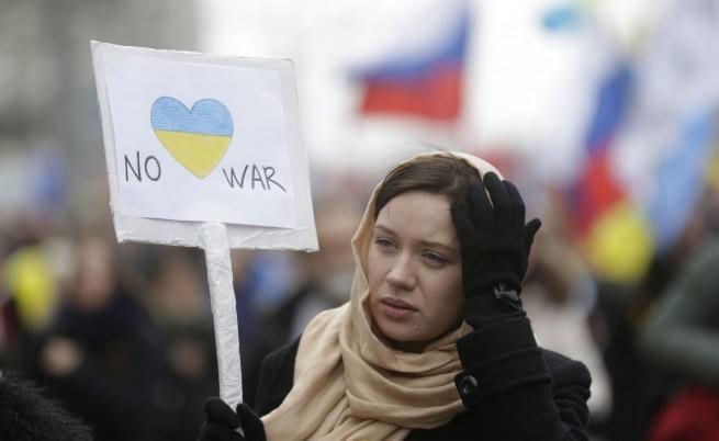 50 хиляди души в Москва протестираха срещу окупацията на Крим