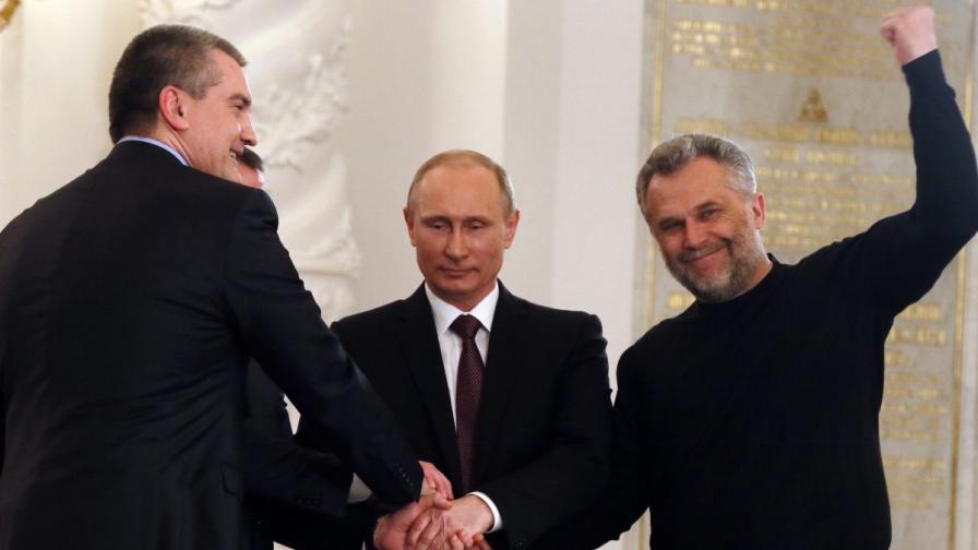 Путин подписа договора за присъединяването на Крим