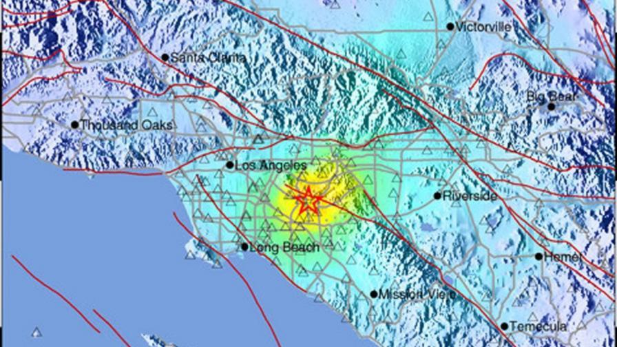 Трус с магнитуд 5,1 разлюля южна Калифорния