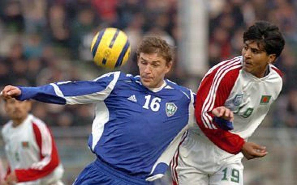 Максим Шацких вкара пет за разгромна победа на Узбекистан