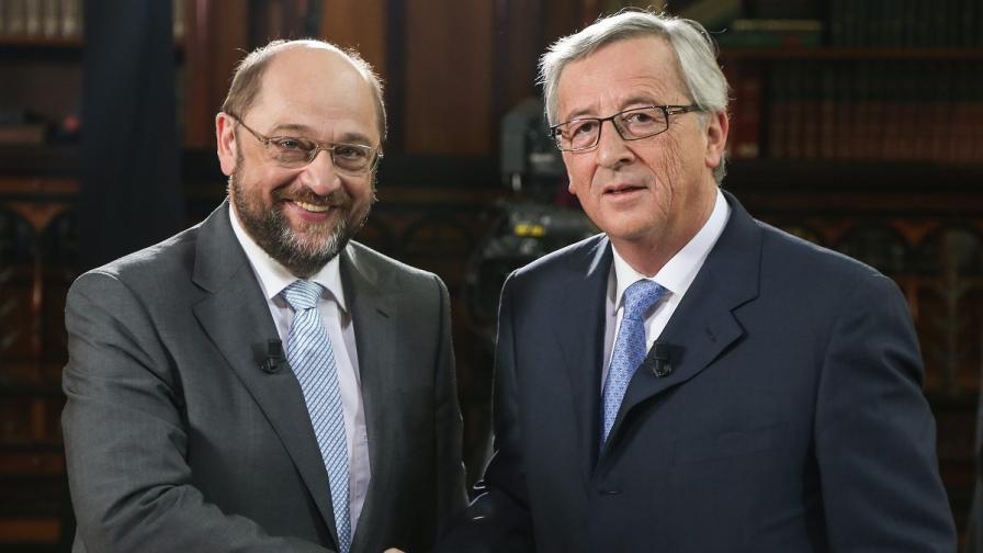 Юнкер и Шулц в предизборен евродебат