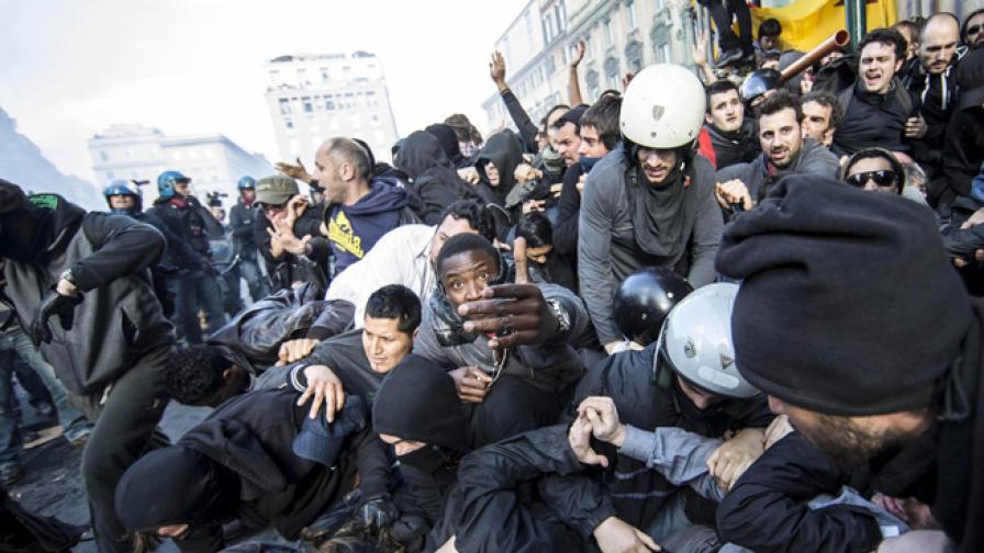 40 ранени след протест, прераснал в улична война в Рим