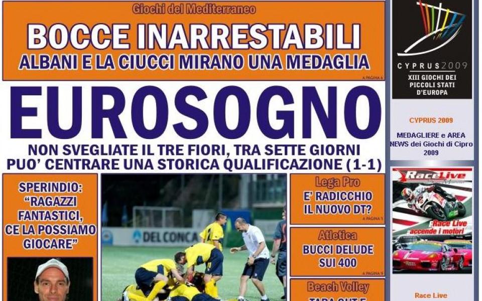 Не събуждайте Тре Фиори от евросъня, пишат в Сан Марино