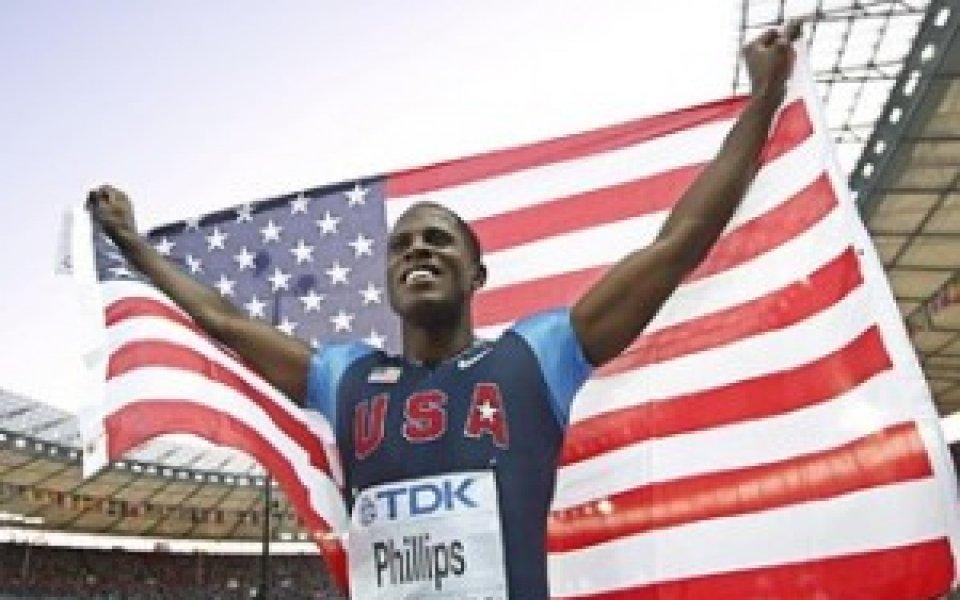 Дуайт Филипс стана за трети път световен шампион в скока на дължина