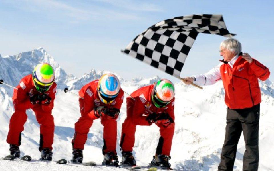 СНИМКИ: Снежното шоу на Ферари