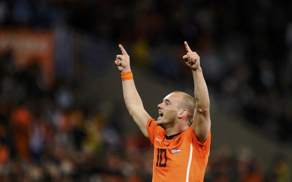 Снайдер е играч на мача Уругвай - Холандия