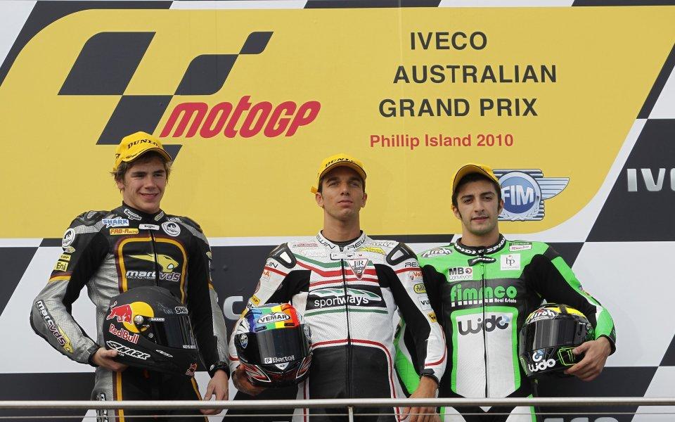 Алекс де Анжелис с първа победа в клас Мото2