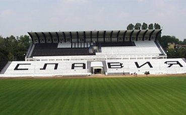 Славия започна изграждането на осветление на клубния си стадион