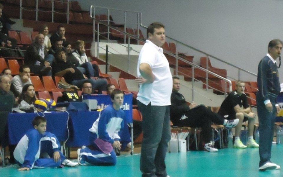 Волейболната легенда Мартин Стоев коментира поражението на тима си Сливнишки