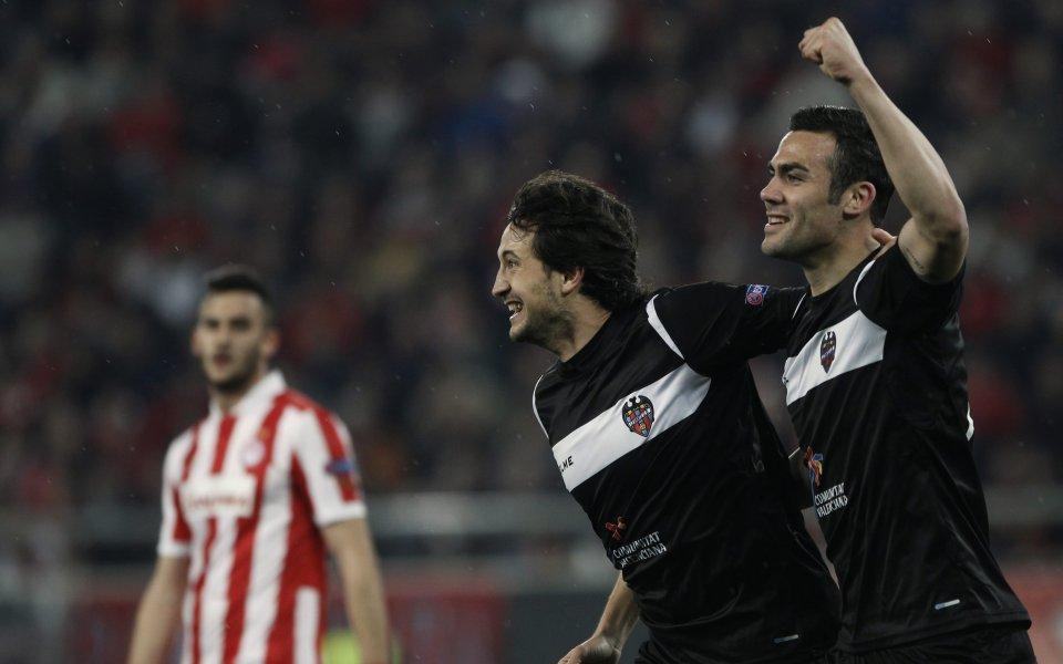 ВИДЕО: Леванте на 1/8-финалите в Лига Европа след нов успех на Олимпиакос