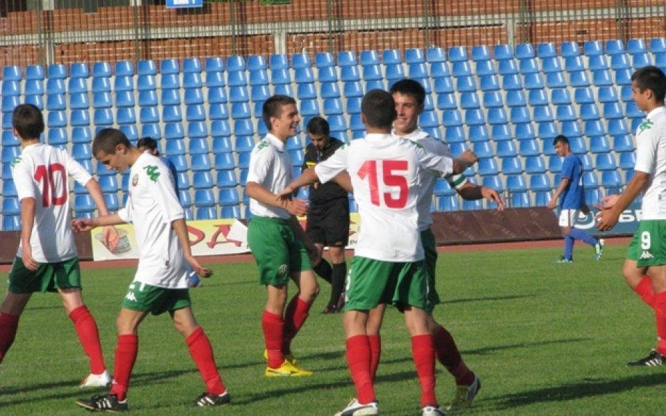 Юношеският национален отбор на България записа втора поредна победа на