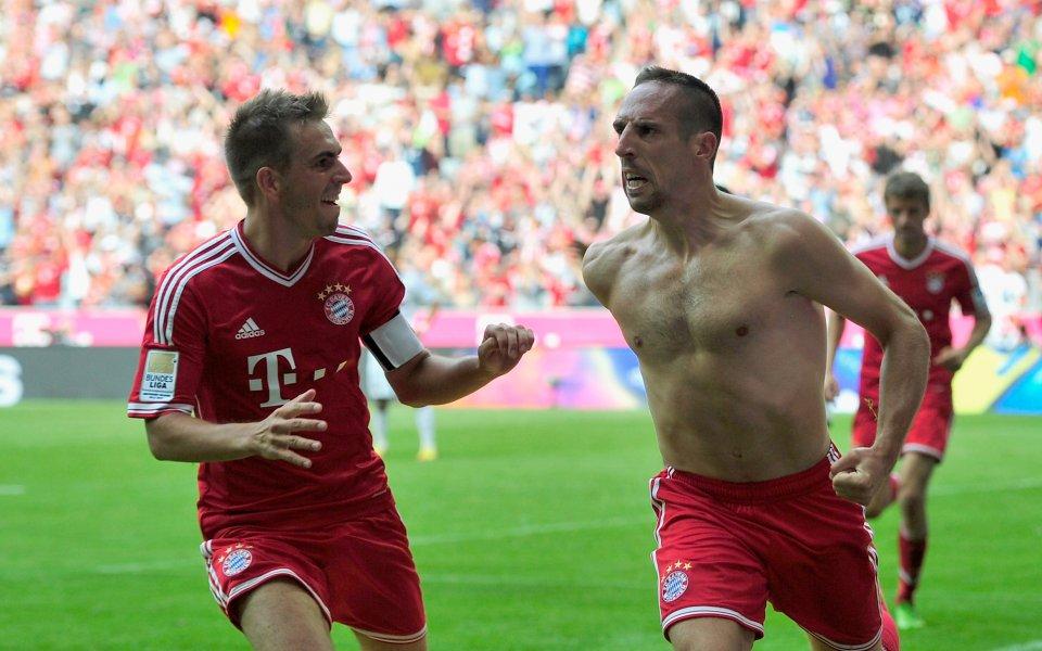 ВИДЕО: 3 от 3 за Байерн след труден успех в баварското дерби