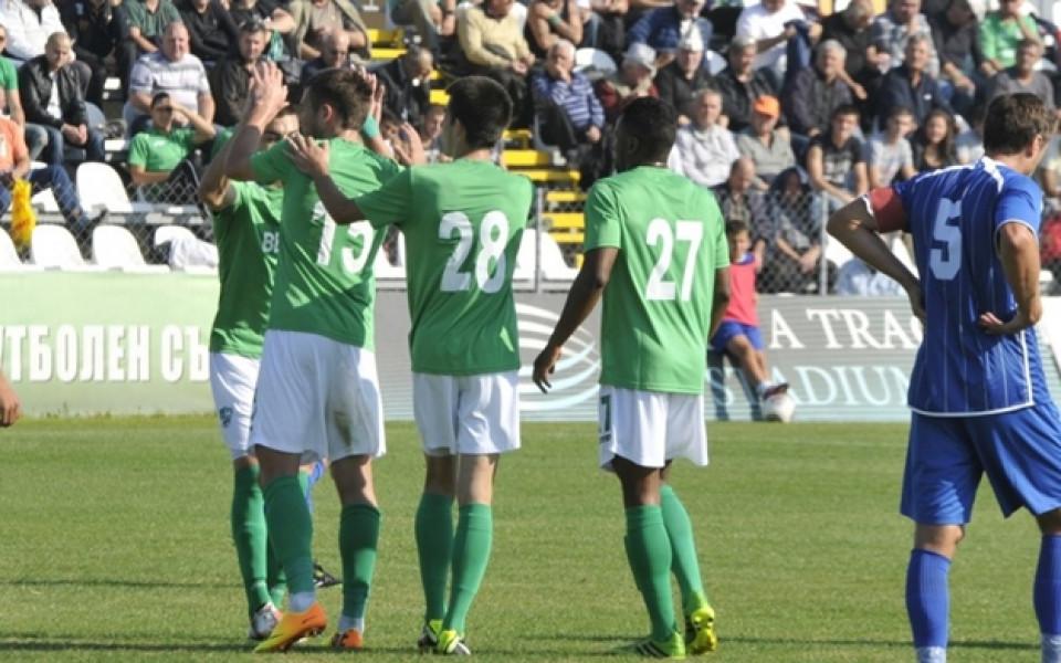 Берое подгря за Първа лига с успех над Ботев Гълъбово