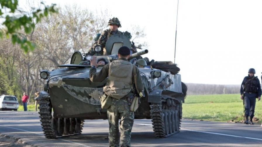 Няма българи сред пленените в Славянск
