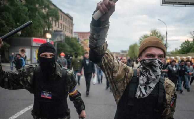 Какво контролират сепаратистите в Донецка област