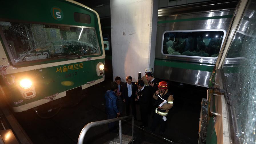 172 души бяха ранени при катастрофа в метрото в Сеул