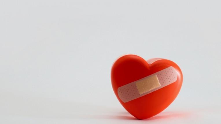 сърце лепенка любов