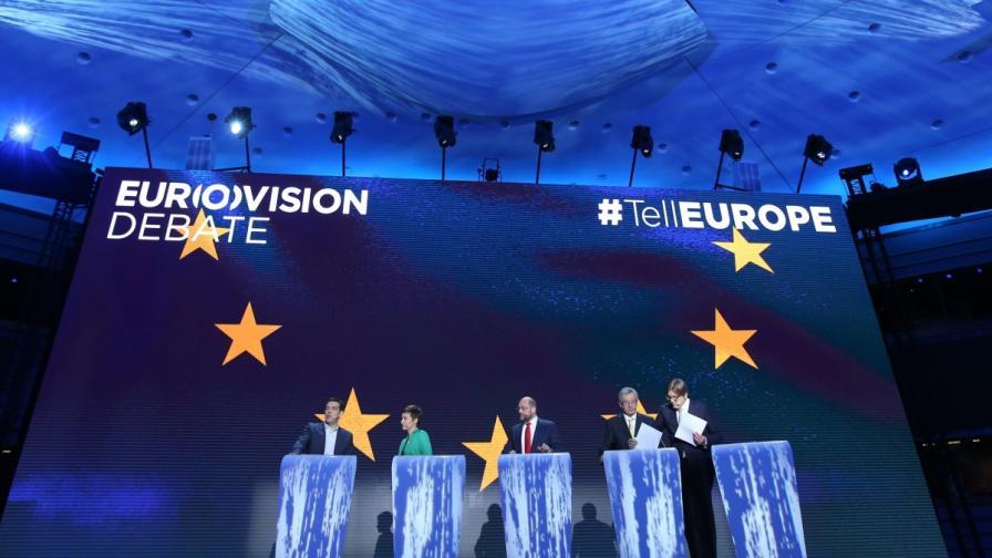 """Истинската """"Евровизия"""" събра кандидатите за шеф на ЕК"""