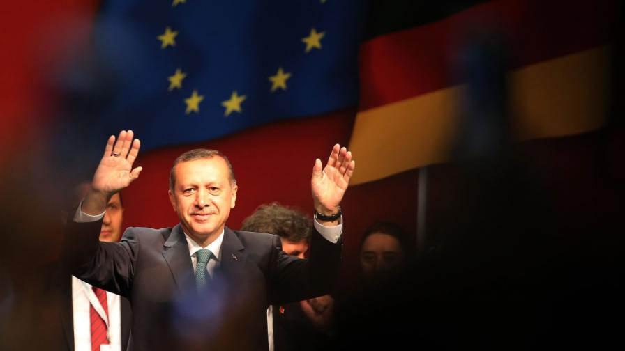 Реч на Ердоган предизвика масови протести в Германия