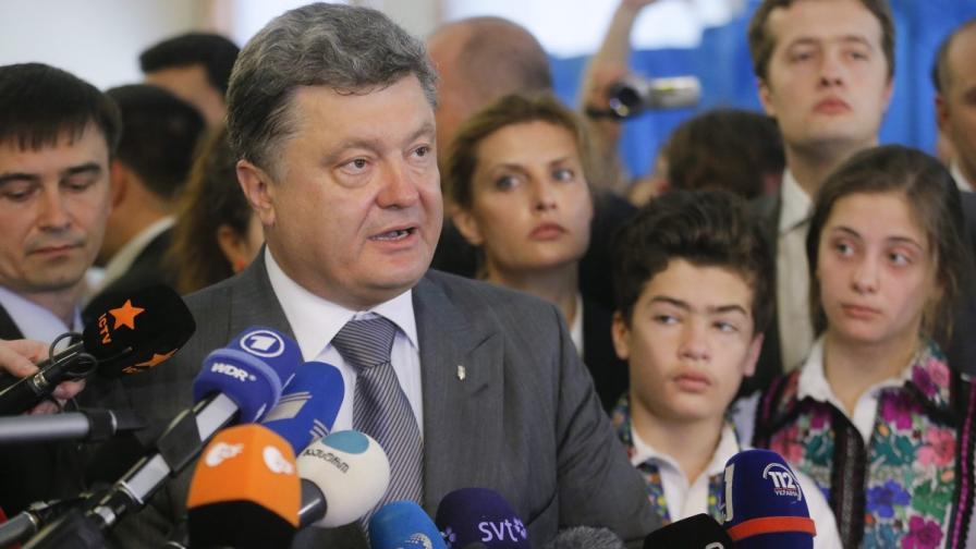 Порошенко е вероятният нов президент на Украйна по предварителни данни