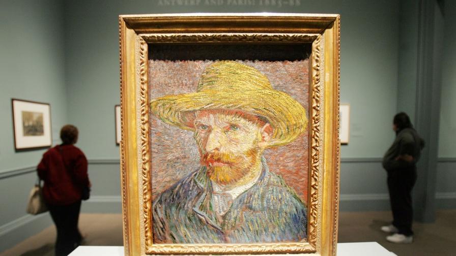 Автопортрет на Ван Гог, преди да отреже ухото си