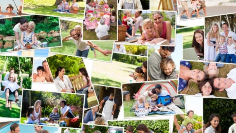 колаж живот щастие семейство
