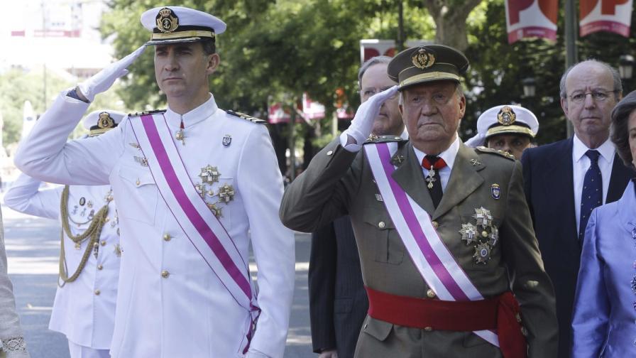 След абдикацията на Хуан Карлос Испания ще има двама крале