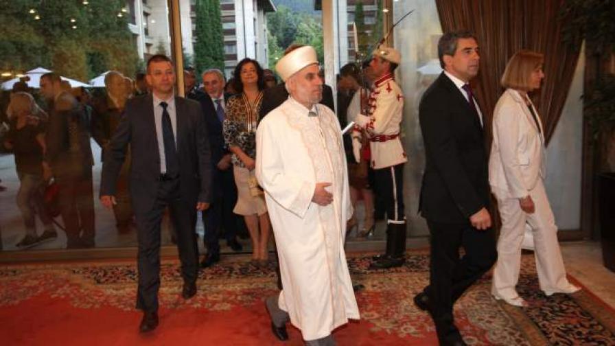 Президентът Росен Плевнелиев и главният мюфтия Мустафа Хаджи