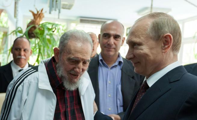 Владимир Путин и Фидел Кастро