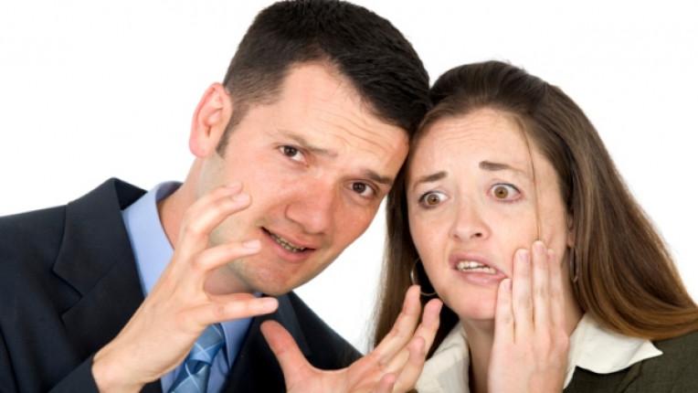 тревога мъж жена стрес