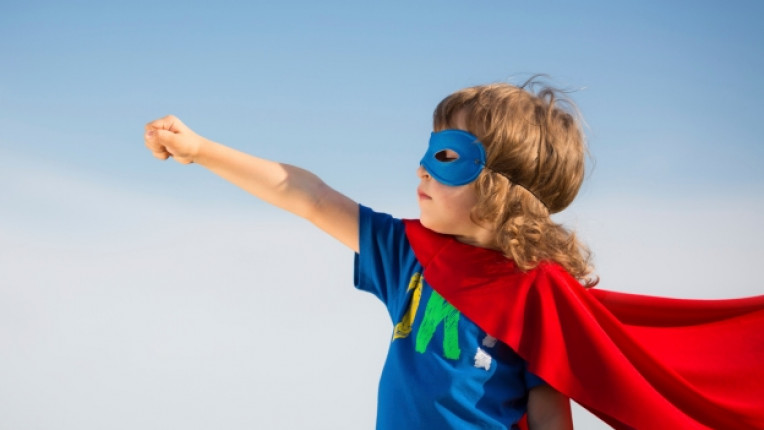 дете момче супермен