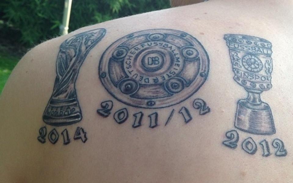 Немски национал си татуира световната титла