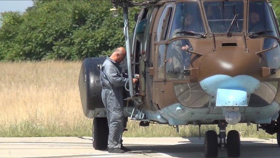 Хеликоптерът закачил жиците заради ято