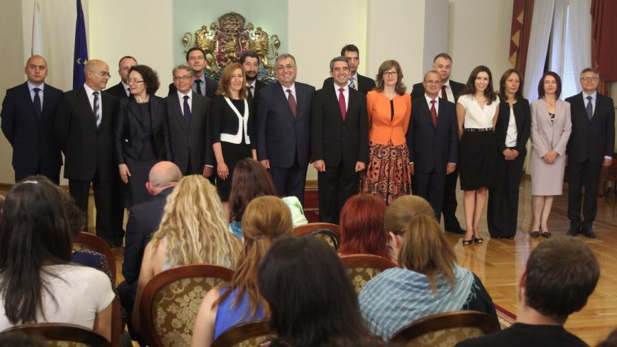 Президентът Росен Плевнелиев представи служебното правителство