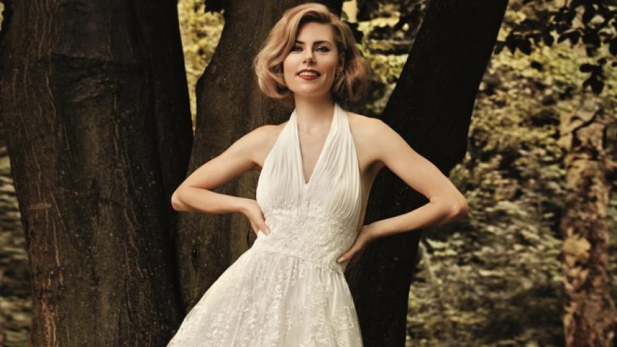Деси Банова стана есенна булка и заприлича на Мерилин Монро