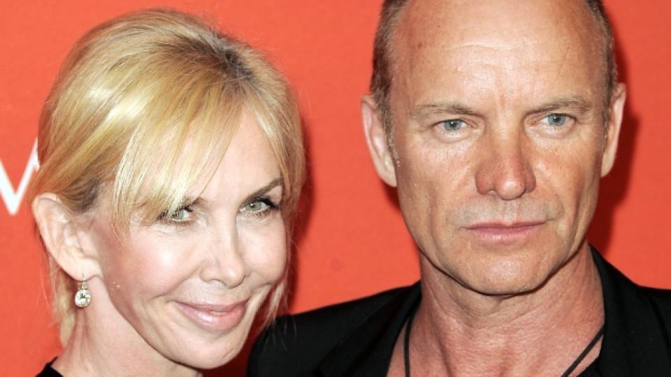 Стинг и съпругата му Труди Стайлър